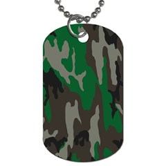 Army Green Camouflage Dog Tag (two Sides) by BangZart