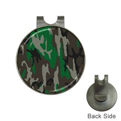Army Green Camouflage Hat Clips With Golf Markers
