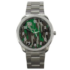 Army Green Camouflage Sport Metal Watch by BangZart
