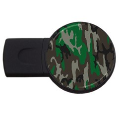 Army Green Camouflage Usb Flash Drive Round (4 Gb) by BangZart