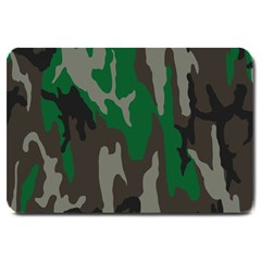 Army Green Camouflage Large Doormat  by BangZart