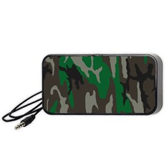 Army Green Camouflage Portable Speaker (black) by BangZart