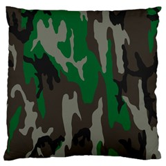 Army Green Camouflage Large Cushion Case (two Sides) by BangZart