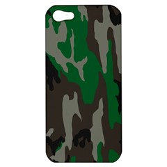 Army Green Camouflage Apple Iphone 5 Hardshell Case by BangZart