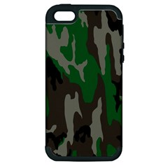 Army Green Camouflage Apple Iphone 5 Hardshell Case (pc+silicone) by BangZart