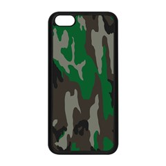 Army Green Camouflage Apple Iphone 5c Seamless Case (black) by BangZart