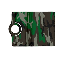 Army Green Camouflage Kindle Fire Hd (2013) Flip 360 Case by BangZart
