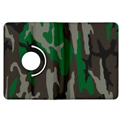 Army Green Camouflage Kindle Fire Hdx Flip 360 Case by BangZart