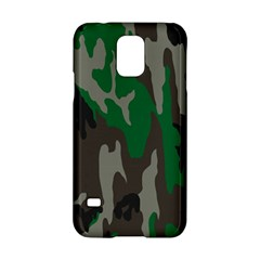 Army Green Camouflage Samsung Galaxy S5 Hardshell Case  by BangZart