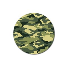 Camouflage Camo Pattern Magnet 3  (round)