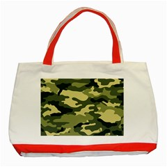 Camouflage Camo Pattern Classic Tote Bag (red) by BangZart
