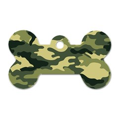 Camouflage Camo Pattern Dog Tag Bone (two Sides) by BangZart