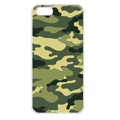 Camouflage Camo Pattern Apple Iphone 5 Seamless Case (white) by BangZart
