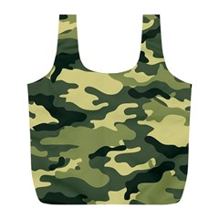 Camouflage Camo Pattern Full Print Recycle Bags (l)  by BangZart