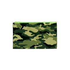 Camouflage Camo Pattern Cosmetic Bag (xs) by BangZart