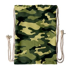Camouflage Camo Pattern Drawstring Bag (large) by BangZart