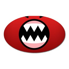 Funny Angry Oval Magnet by BangZart