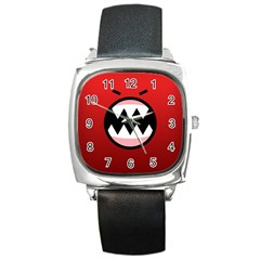 Funny Angry Square Metal Watch by BangZart