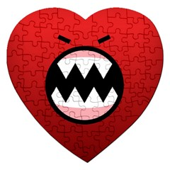 Funny Angry Jigsaw Puzzle (heart) by BangZart