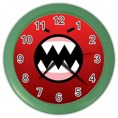 Funny Angry Color Wall Clocks by BangZart