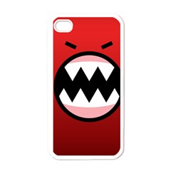 Funny Angry Apple Iphone 4 Case (white) by BangZart