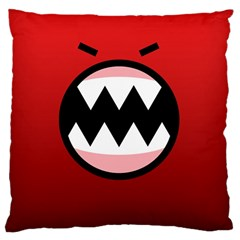 Funny Angry Large Cushion Case (two Sides) by BangZart