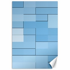 Blue Squares Iphone 5 Wallpaper Canvas 20  X 30   by BangZart