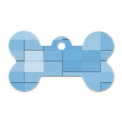Blue Squares Iphone 5 Wallpaper Dog Tag Bone (two Sides) by BangZart