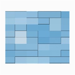 Blue Squares Iphone 5 Wallpaper Small Glasses Cloth (2 Side) by BangZart