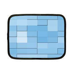 Blue Squares Iphone 5 Wallpaper Netbook Case (small)  by BangZart