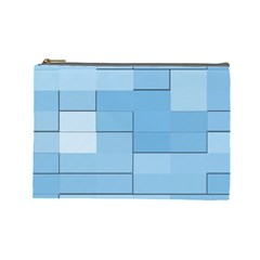 Blue Squares Iphone 5 Wallpaper Cosmetic Bag (large)  by BangZart