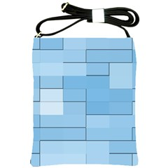 Blue Squares Iphone 5 Wallpaper Shoulder Sling Bags by BangZart
