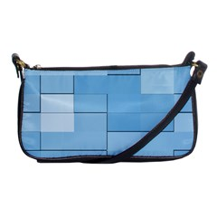 Blue Squares Iphone 5 Wallpaper Shoulder Clutch Bags by BangZart