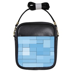 Blue Squares Iphone 5 Wallpaper Girls Sling Bags by BangZart
