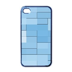 Blue Squares Iphone 5 Wallpaper Apple Iphone 4 Case (black) by BangZart