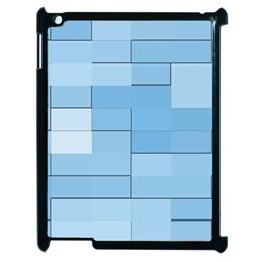 Blue Squares Iphone 5 Wallpaper Apple Ipad 2 Case (black) by BangZart