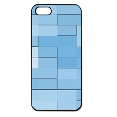 Blue Squares Iphone 5 Wallpaper Apple Iphone 5 Seamless Case (black) by BangZart