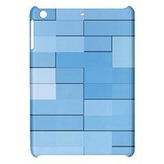 Blue Squares Iphone 5 Wallpaper Apple Ipad Mini Hardshell Case by BangZart