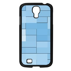 Blue Squares Iphone 5 Wallpaper Samsung Galaxy S4 I9500/ I9505 Case (black) by BangZart