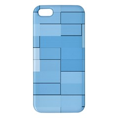 Blue Squares Iphone 5 Wallpaper Iphone 5s/ Se Premium Hardshell Case by BangZart