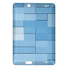 Blue Squares Iphone 5 Wallpaper Amazon Kindle Fire Hd (2013) Hardshell Case by BangZart