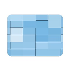 Blue Squares Iphone 5 Wallpaper Double Sided Flano Blanket (mini)  by BangZart