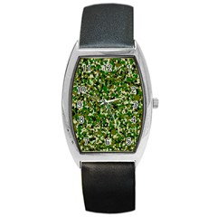 Camo Pattern Barrel Style Metal Watch by BangZart
