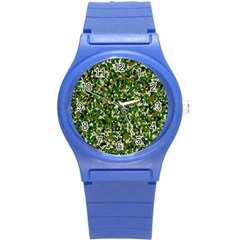 Camo Pattern Round Plastic Sport Watch (s) by BangZart