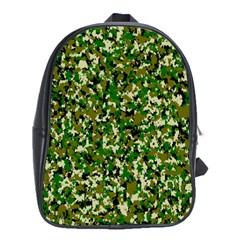 Camo Pattern School Bags (xl)  by BangZart