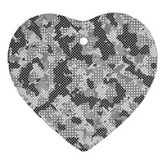 Camouflage Patterns Heart Ornament (two Sides) by BangZart