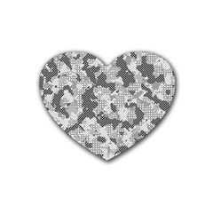 Camouflage Patterns Heart Coaster (4 Pack)  by BangZart