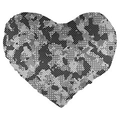 Camouflage Patterns Large 19  Premium Heart Shape Cushions by BangZart