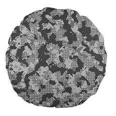 Camouflage Patterns Large 18  Premium Flano Round Cushions by BangZart