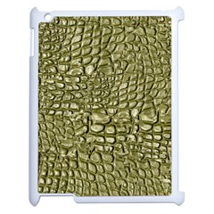 Aligator Skin Apple Ipad 2 Case (white) by BangZart